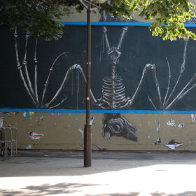 Roa paints the